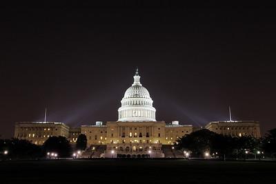 U.S. Capitol Building at Night, Washington, D.C.
