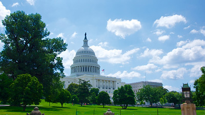 Western View of US Capitol Building