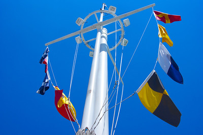 US Navy Memorial Mast and Signal Flags