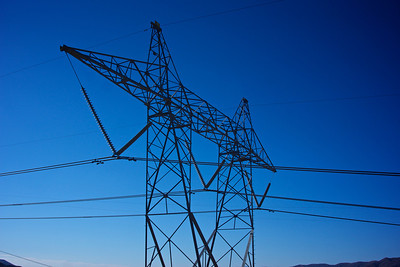 Metal Girder of Electrical Power Lines