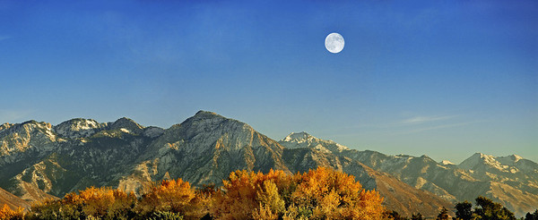 Moon Over Wasatch Front
