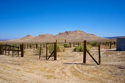 Corral Entrance in the Desert