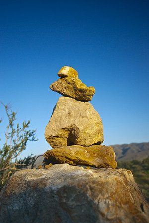 Stone Cairn for Hikers
