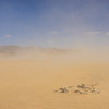 Sandstorm around Desert Rocks