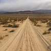 Panorama of Sand Road in Desert