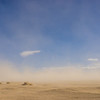 Sand Desert in Wind Storm