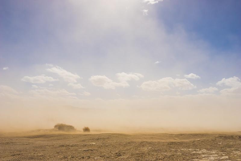 Sun Shines through Dust Storm