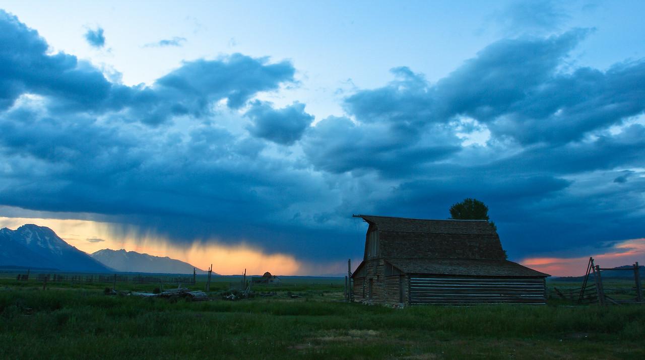 Mormon Row Wyoming storm