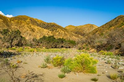 Desert Valley in California Mountains