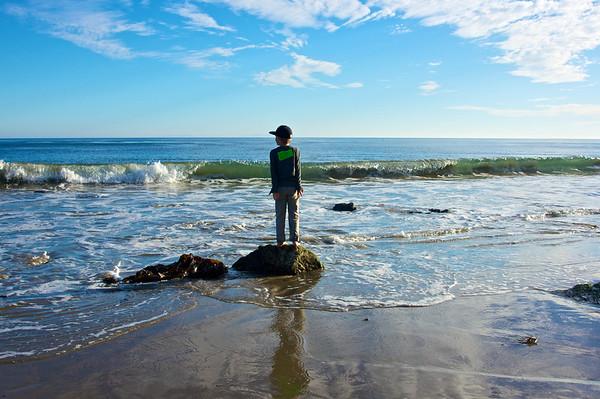 Beach at Paradise Cove, California
