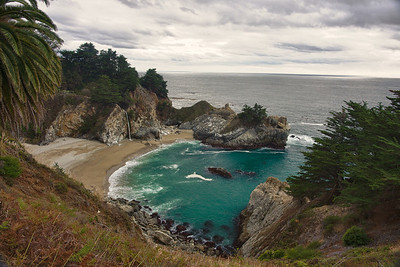 Julia Pfeiffer Burns State Park along the Pacific Coast Highway.