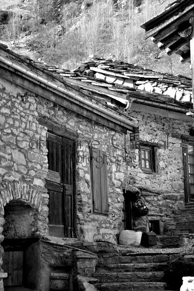 Village Steps BW