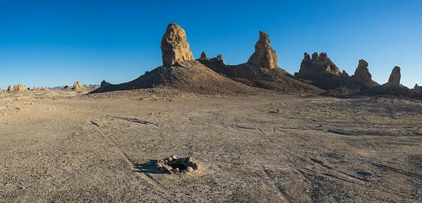 Campsite in California Mojave Desert