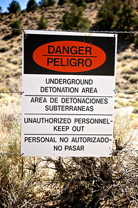 Explosion Danger Sign