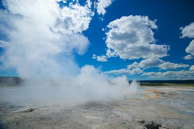 Yellowstone Hot Spring Steam