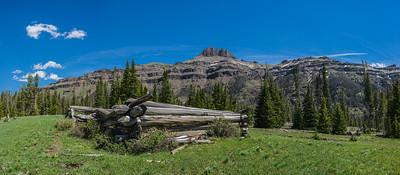 Log Cabin in Western Wilderness