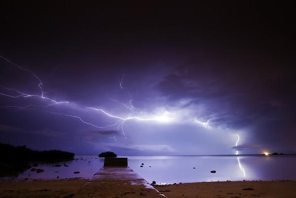 Lightning from Hickam AFB, Oahu, Hawaii