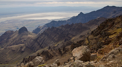 Looking Down on the Alvord Desert from Steens Mountain Oregon