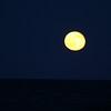 Full moon over Atlantic Ocean in Myrtle Beach, SC