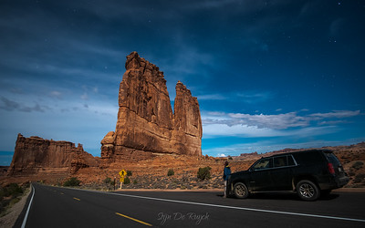 Moonlit Courthouse Towers, Arches National Park, Utah
