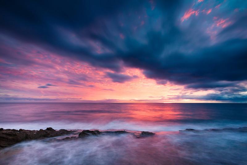 West Oahu sunset.