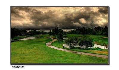 Clouds Over Emerald Greens Golf Course