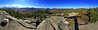 One final panorama from our trip last month.  This one's from the summit of Mt. Crawford, just off the Davis Path in the White Mountains.  Mt. Crawford is on a subsidiary ridge of the Presidentials; Mt. Washington is visible about 2/3 to the right.  I'm not certain exactly how wide it is; depending upon exactly what I did, Hugin gave me estimates of between 270 and 310 degrees.  This was hand held, and I had to perform a bit of surgery to get some seams to line up (in addition to synthesizing some rock and sky).  The Sigma 8-16 that I used (at the wide end) isn't a flare monster, but I did have to clean up some flare spots.  Full size is about 35 megapixels.