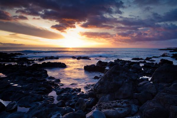 Kaena Pt. Sunset, Oahu, Hawaii.