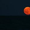 Full moon over Atlantic in Myrtle Beach SC