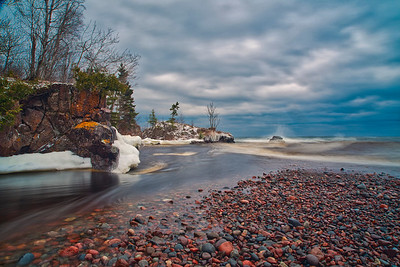 Temperance RIver and Lake Superior