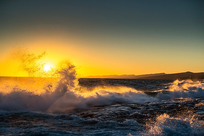 Big Waves and the Sunset