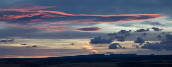 Sunset From Frenchglen Oregon