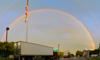 Nice rainbow the evening of June 17, 2013 in Newton, MA.  3 shots stitched.