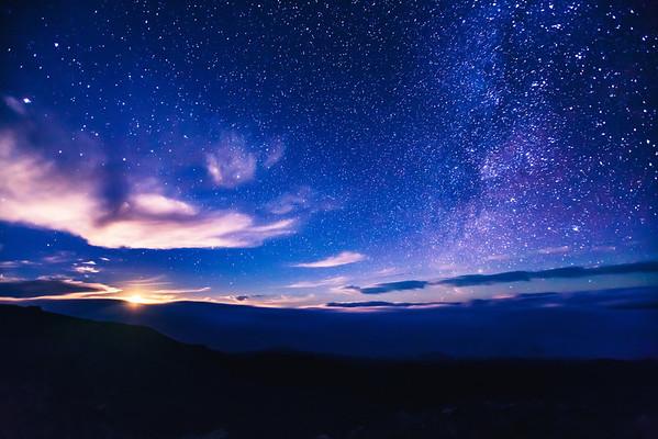 Moonrise from Mauna Kea
