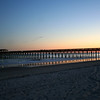 Sunset at a pier in Myrtle Beach State Park, SC