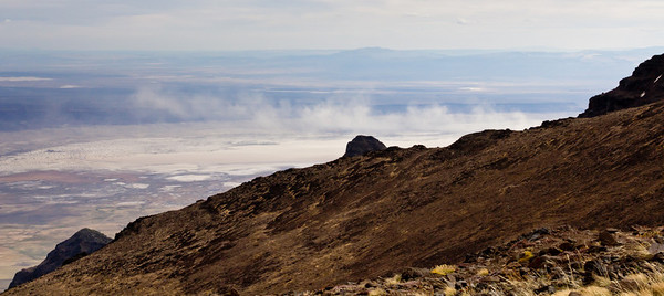 Alvord Dust Storm from Steens Mountain Oregon