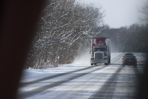 Truck in winter.