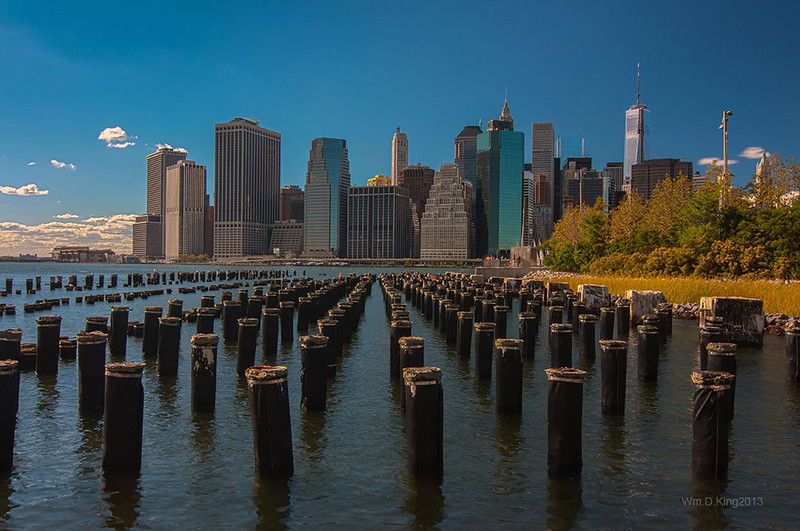 Pilings Against the NYC Skyline
