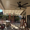 Almost done with the patio cover installation.