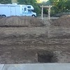 Deep footings for the new patio cover.