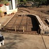 Johnny is checking out the new front patio area.