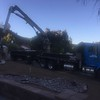 Another delivery. This time we are getting some boulders placed in the yard.
