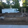 The backyard retaining walls are coming along. We had to order just a bit more block to finish these off.