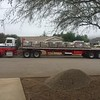 Lots of supplies coming in for the block walls.
