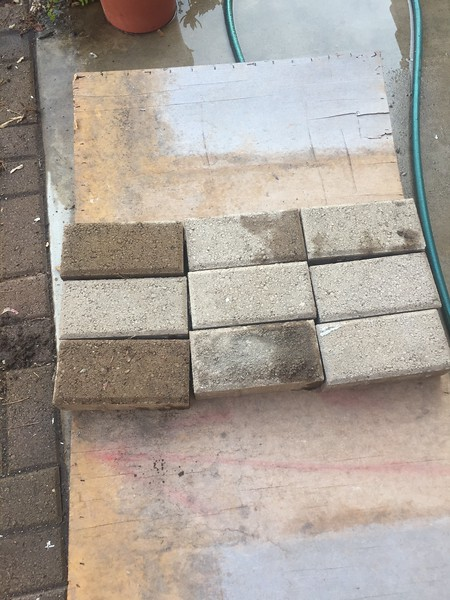 The pavers were in good shape after 26 years.
