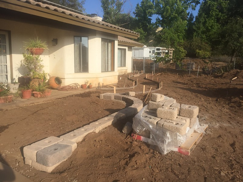 We decided to make the front patio much bigger.