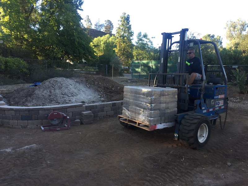 More blocks! This came with the delivery of rocks for the creek bed.