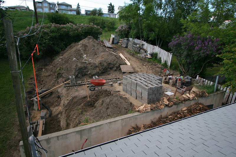 The backyard has been blocked!