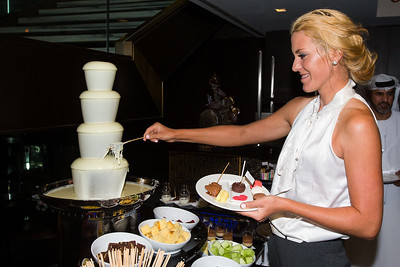 Olafia Kristinsdottir of Iceland during the Pro-Am Pairing Party at the Marriot Downtown Abu Dhabi Ball Room