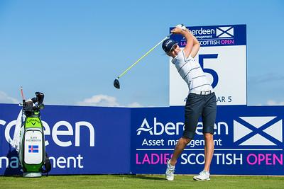 Olafia Kristinsdottir of Iceland during the practice round